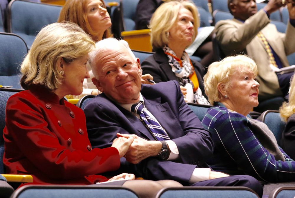 Former U.S Sen. Kay Bailey Hutchison and billionaire oilman Ray Hunt welcomed the Dallas City Council's 8-7 vote to keep the Exxxotica sex expo from returning to the convention center that bears Hutchison's name. (David Woo/Staff Photographer)