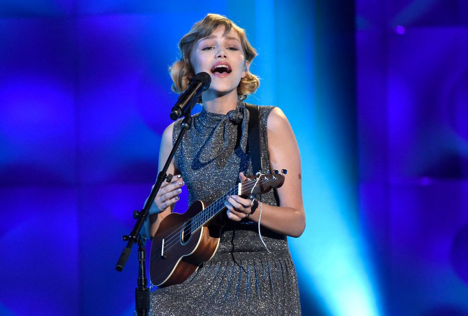 Grace VanderWaal performs at the Billboard Women in Music event at the Ray Dolby Ballroom on Nov. 30, 2017, in Los Angeles.
