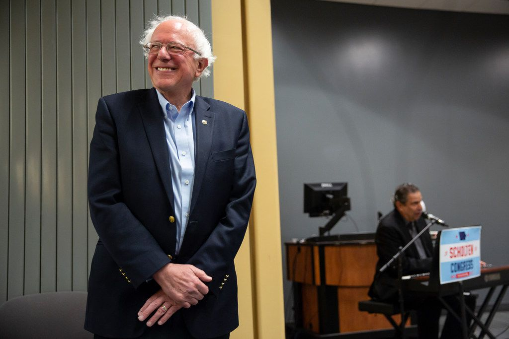 Vermont Sen. Bernie Sanders, runner up for the Democratic presidential nomination in 2016, at an event for a congressional candidate in Ft. Dodge, Iowa, on Oct. 21, 2018.