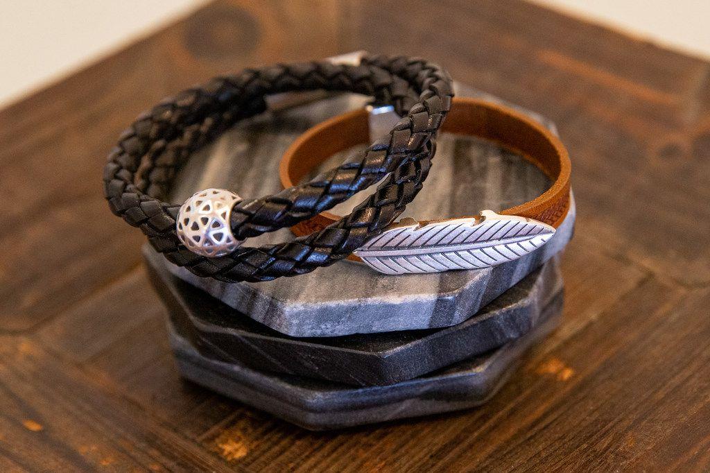A pair of men's bracelets designed by Kori Green