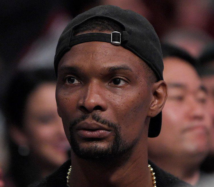 Chris Bosh watches during the second half of a game between the Los Angeles Lakers and the Memphis Grizzlies.