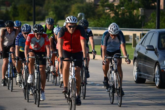 The Shawnee Trail Cycling Club has more than 300 members. Every Thursday, more than 100 club cyclists of varying skill levels meet to ride up to 35 miles.