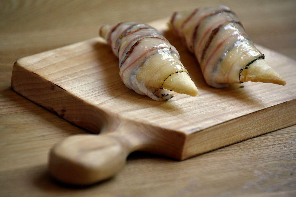 Gnoccho fritto with pancetta testa.
