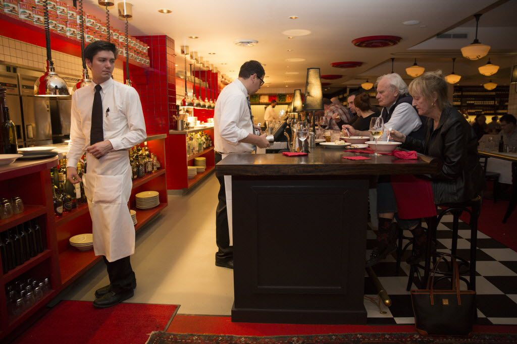 Saint Rocco's open kitchen and bar