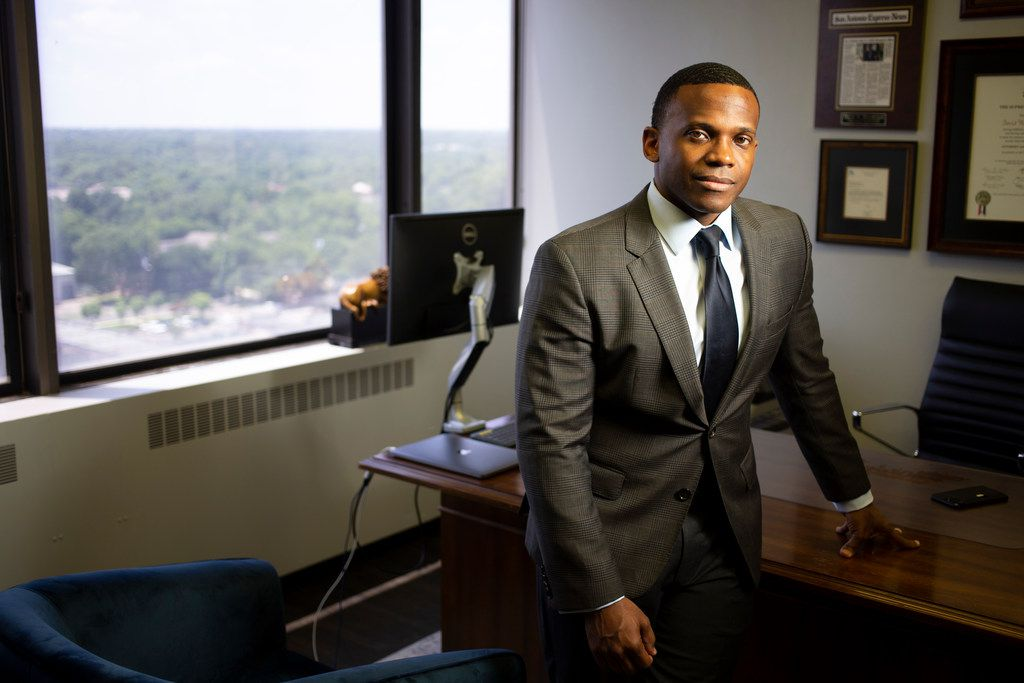 Oak Cliff attorney David Henderson, pictured in this file photo, has been offering analysis on MSNBC during the trial of the officer charged with murder in the death of George Floyd .