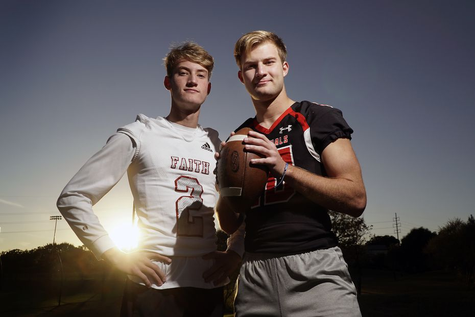 Chase (left) and Carson Cross at their home in Southlake, Texas on Sunday, November 1, 2020.  (Lawrence Jenkins/Special Contributor)