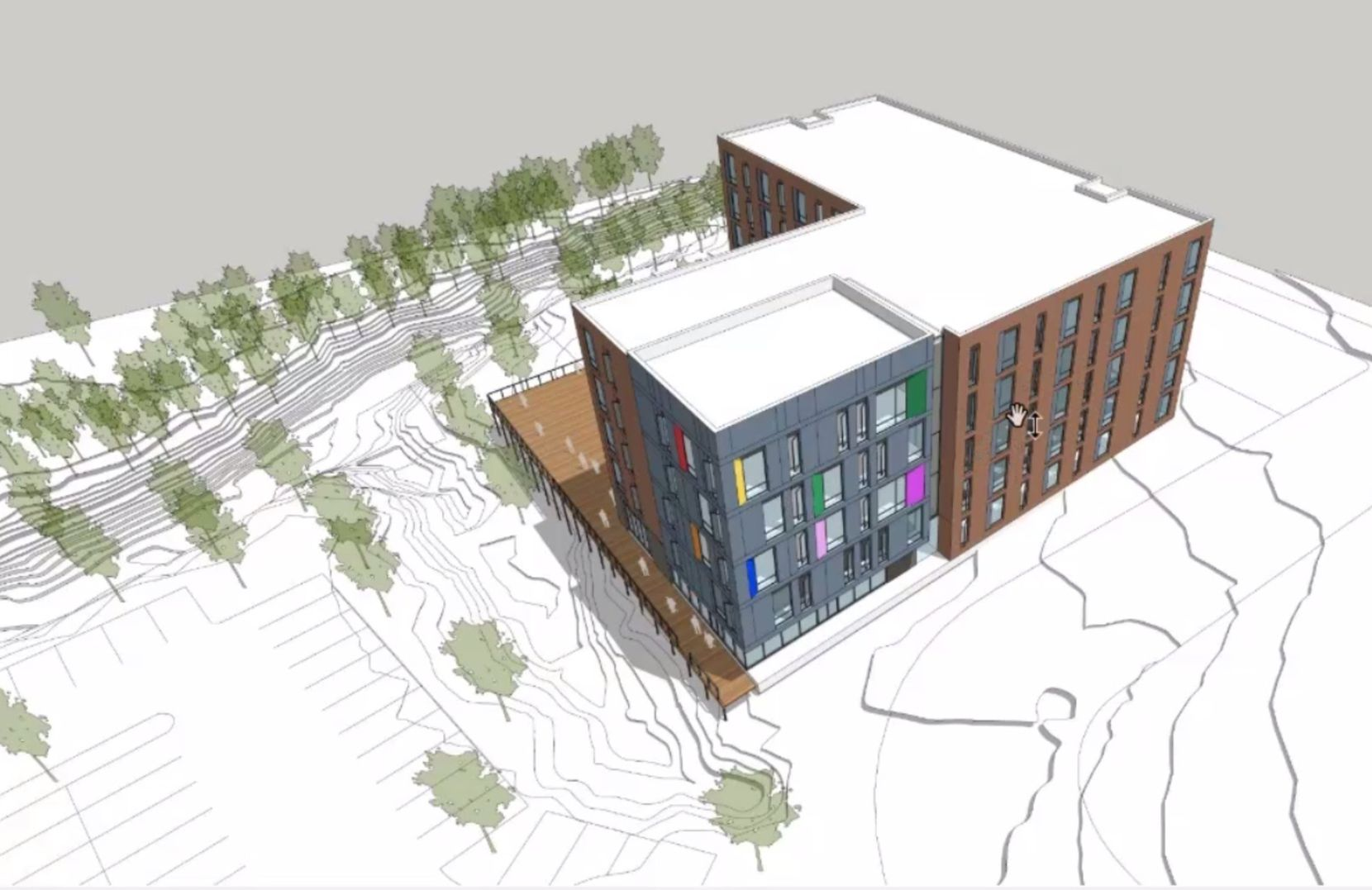 The five-story rental community is planned for a site near Inwood Road and Maple Avenue.