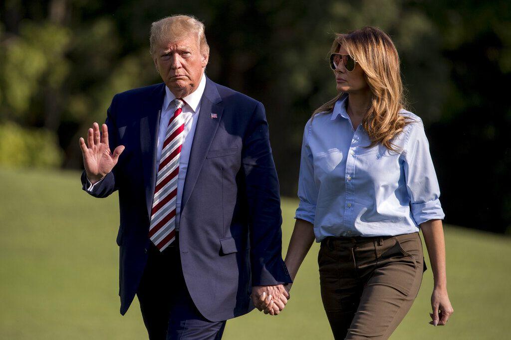 El presidente Donald Trump y su esposa Melania estuvieron el fin de semana en su club de golf privado en New Jersey.
