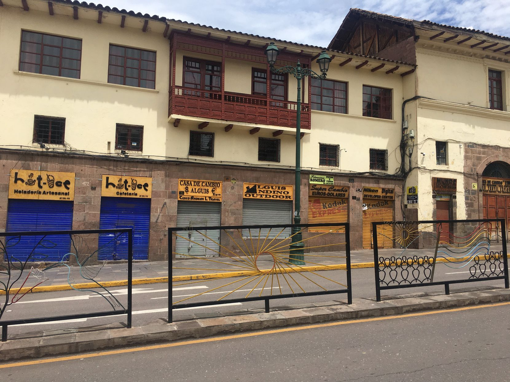 The streets of Cusco, Peru, were deserted Wednesday, March 18, 2020, after Peruvian President Martín Vizcarra put the country under a 15-day quarantine Sunday night to try and slow the spread of the new coronavirus. People were given just four hours notice to get back into houses and hotel rooms or risk arrest.