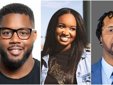 Fredrick Burns (left), GiGi McDowell and Kedreon Cole received $100,000 awards from Google's startup fund for Black founders. The trio created companies in North Texas.