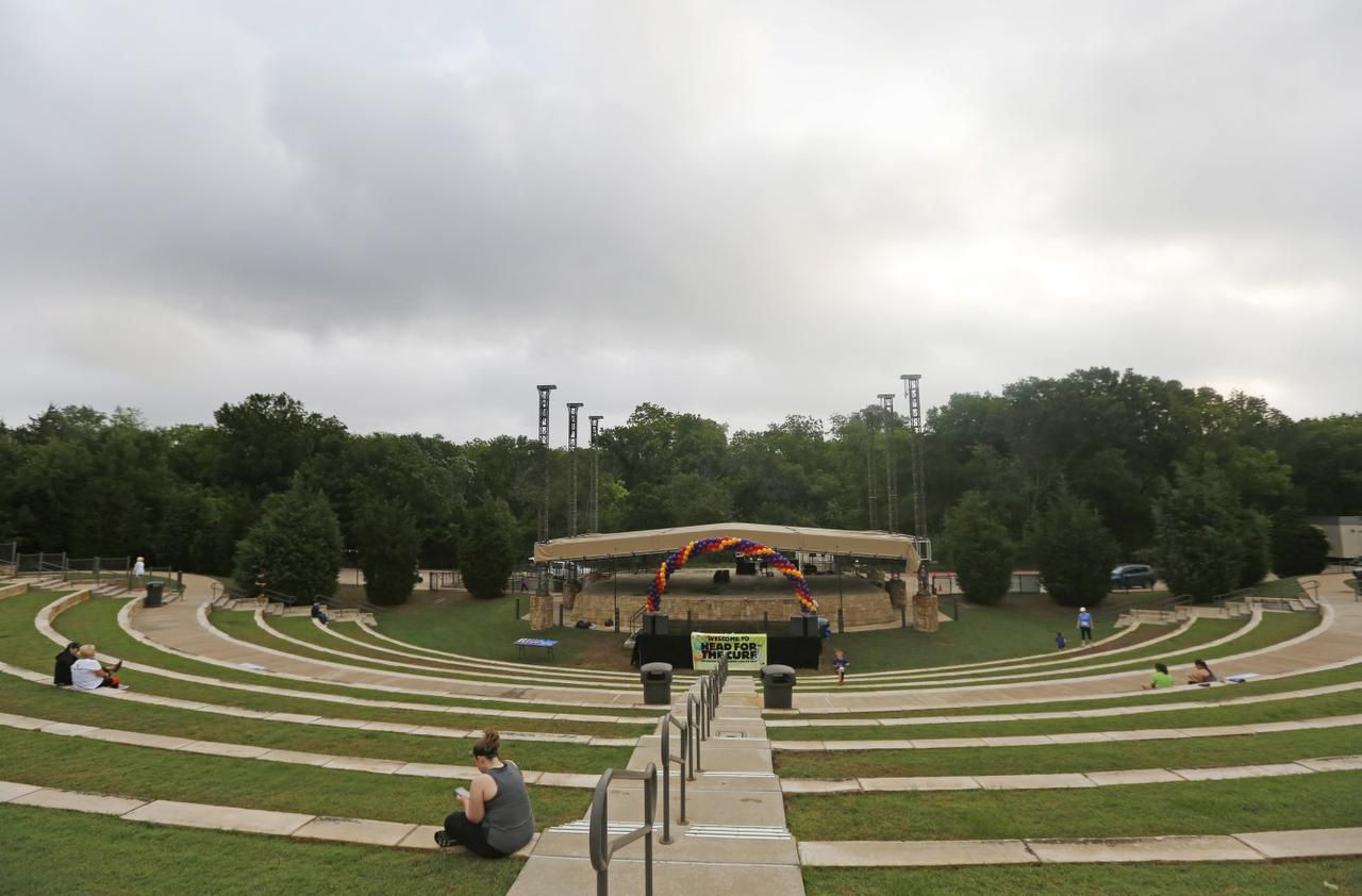 The amphitheater at Oak Point Park in Plano