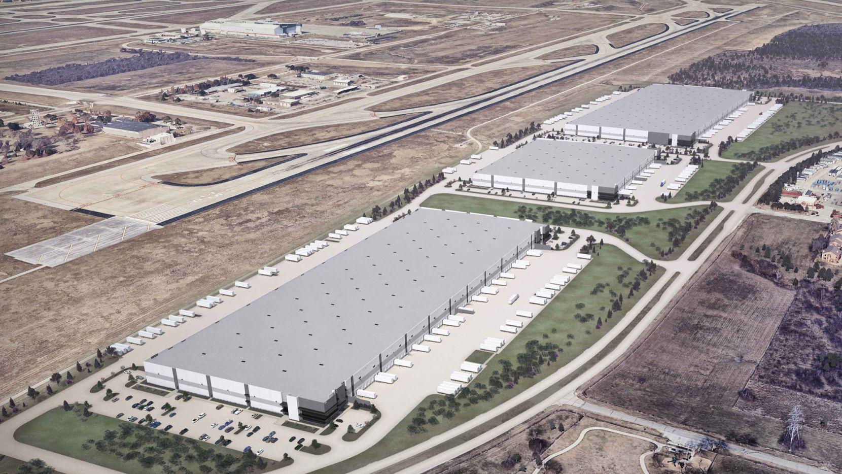 Three warehouses are planned in the Valley View DFW Commerce Park.