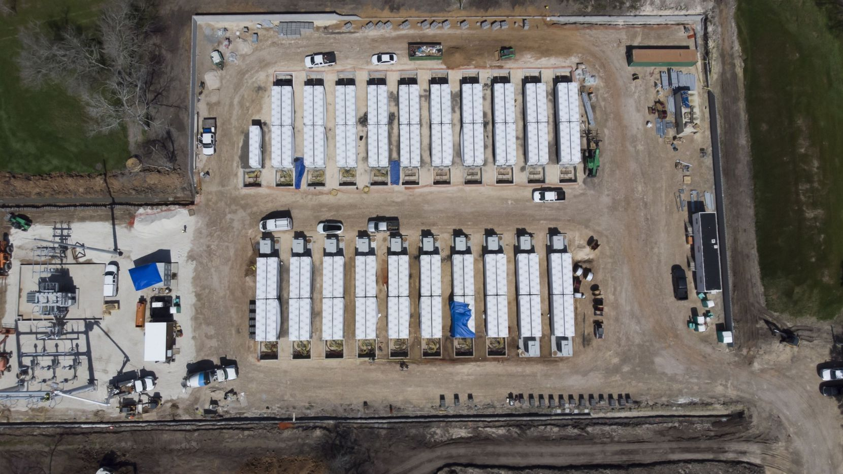 The Gambit Energy Storage Park under construction in Angleton on March 4. A Tesla Inc. subsidiary registered as Gambit Energy Storage LLC is quietly building a more than 100 megawatt energy storage project in Angleton,  a town roughly 40 miles south of Houston.