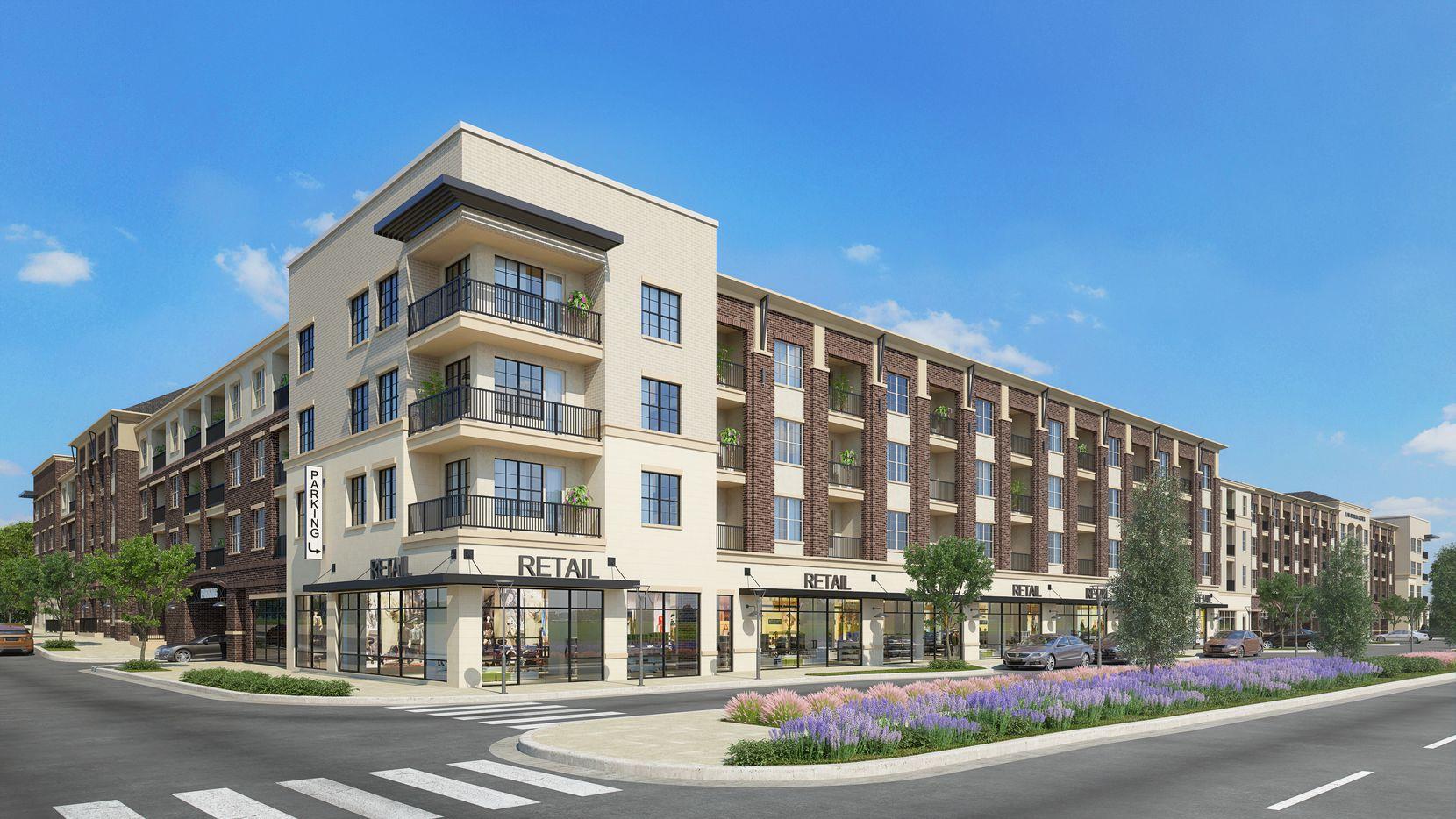 Greystar's Elan Addison Grove rental community will start opening in the fall.