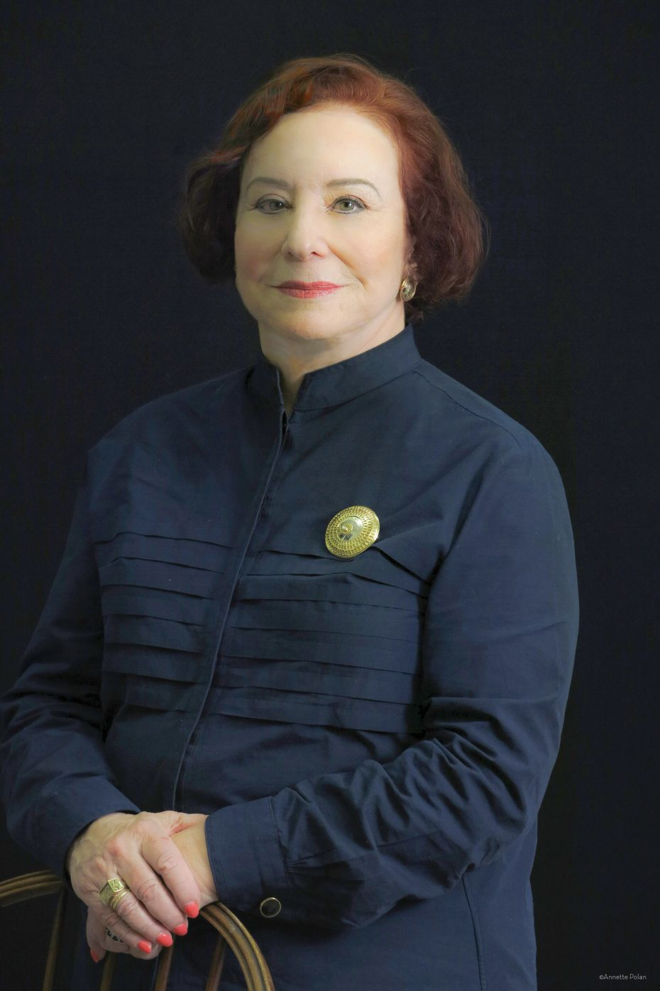 Dr. Florence Haseltine, a scientist at UT-Arlington, poses for a portrait. Haseltine leveraged her personal connections, built on 27 years of working at the national level, to make sure that the North Texas Genome Center has COVID-19 testing supplies.
