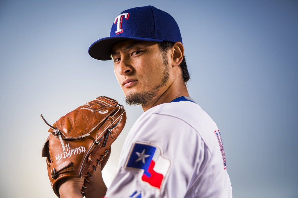 Texas Rangers pitcher Yu Darvish photographed during spring training photo day at the team's training facility on Sunday, Feb. 28, 2016, in Surprise, Ariz. (Smiley N. Pool/The Dallas Morning News)