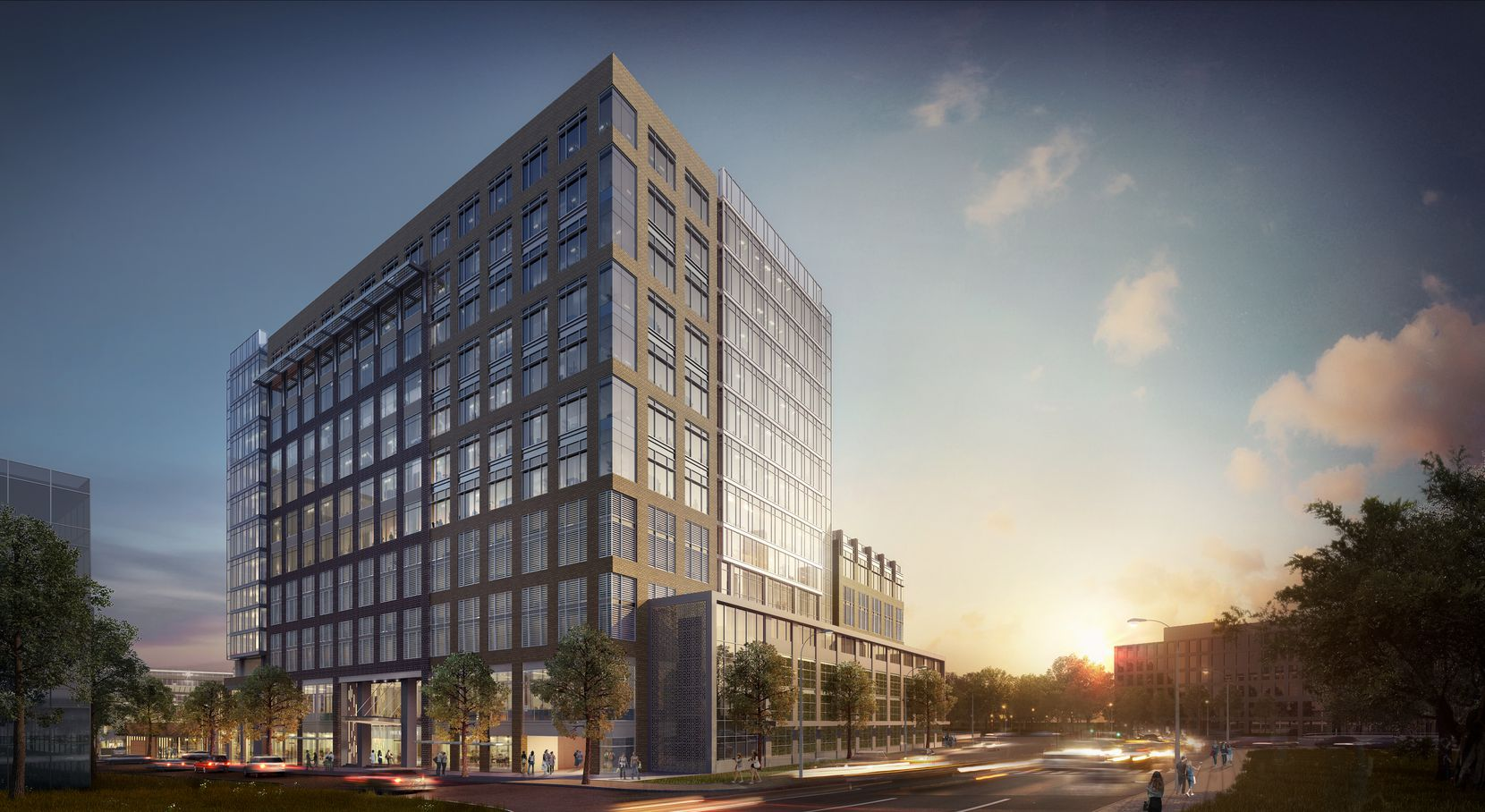 The office tower at Park Lane will be up to 11 stories.