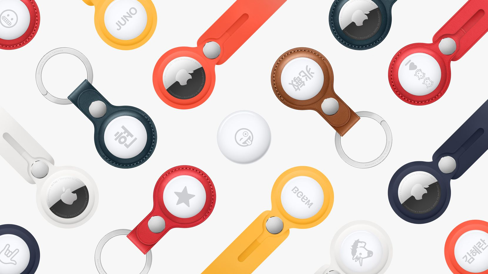 To attach the AirTag to your keys or bag, you'll need some kind of fob. Apple sells a few.