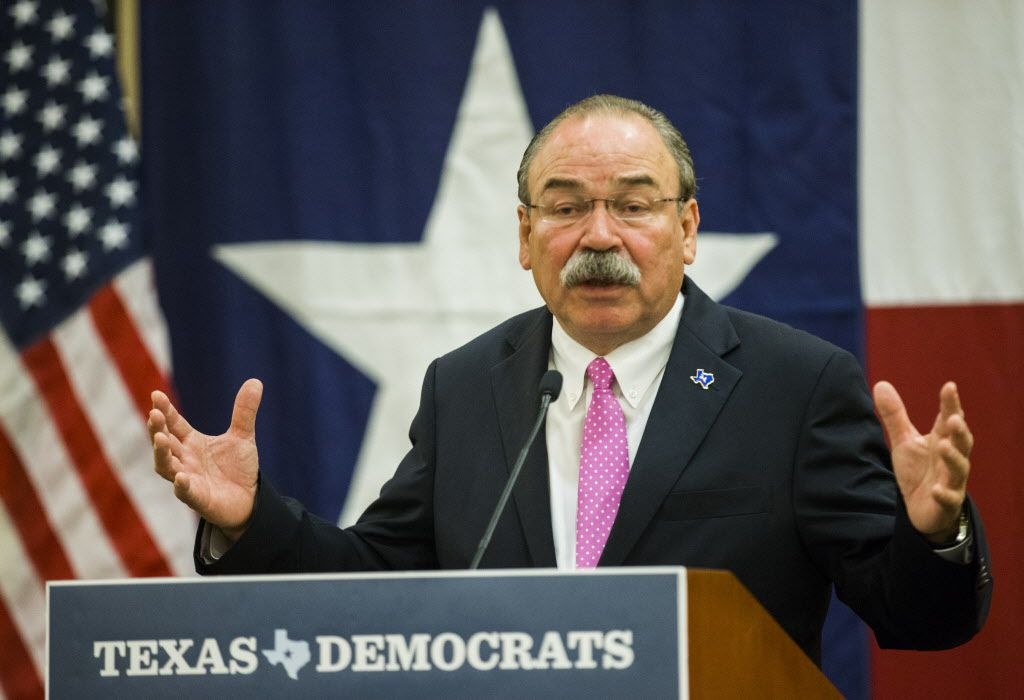 Texas Democratic Party Chairman Gilberto Hinojosa spoke during the Texas delegation breakfast on day one of the 2016 Democratic National Convention in Philadelphia.