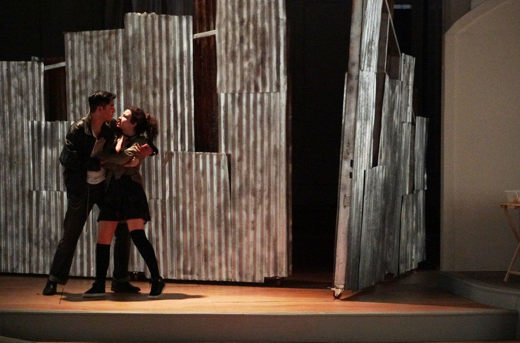 The cast of De Troya performed a dress rehearsal at Arts Mission Oak Cliff. De Troya was Arts Mission's inaugural stage production.
