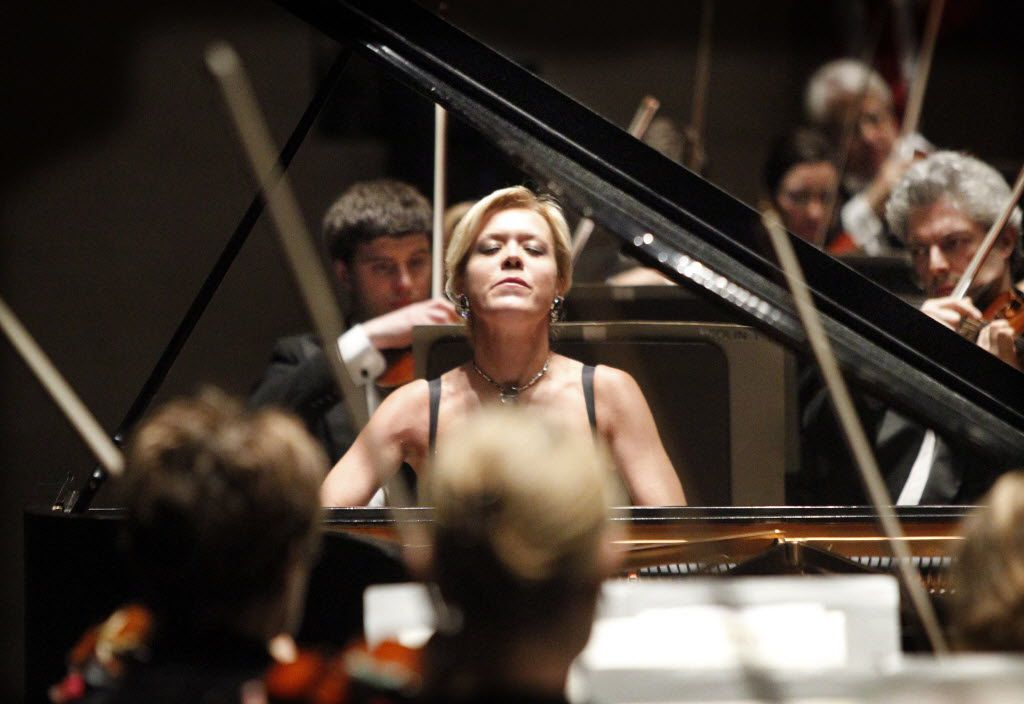 Olga Kern perform with the Dallas Symphony Orchestra  in 2010.  She'll perform June 30 at PepsiCo Recital Hall, in TCU's Walsh Performing Arts Center at part of PianoTexas.