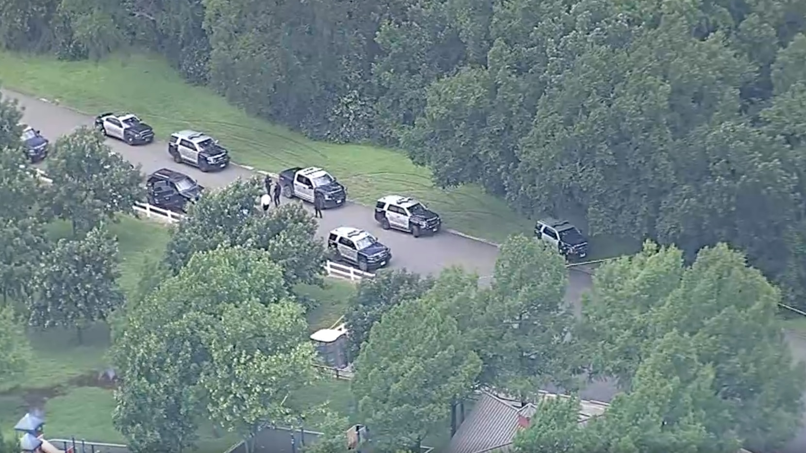 There was a large police presence at Mountain Creek Preserve.