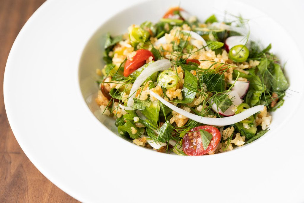 Crispy Rice Salad is among dishes served at Chris Shepher's UB Preserv
