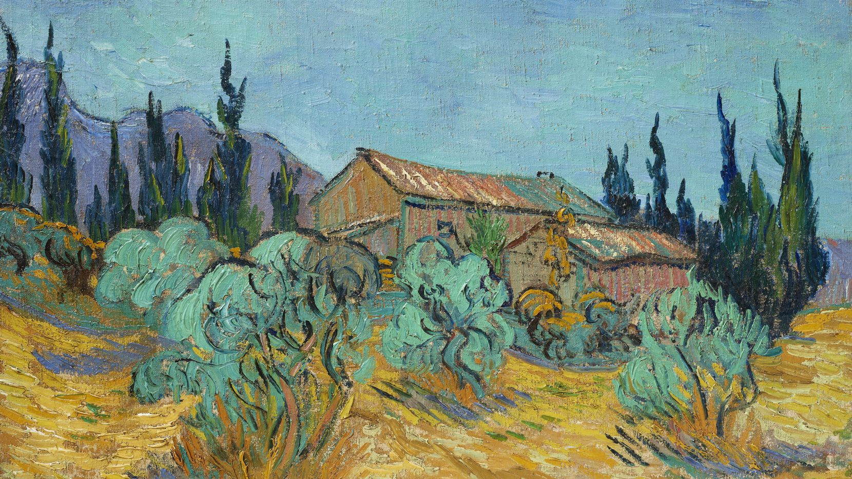 Vincent van Gogh s Cabanes de bois parmi les oliviers et cyprès is expected to bring in approximately $40 million at Christie's auction of Edwin L. Cox's Impressionist collection in November.