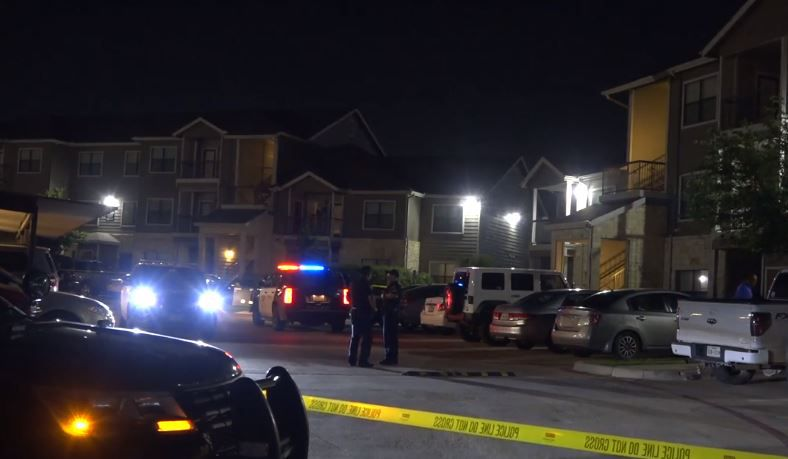 Fort Worth police were called to an apartment complex near Interstate 35W where two men were shot in the head.