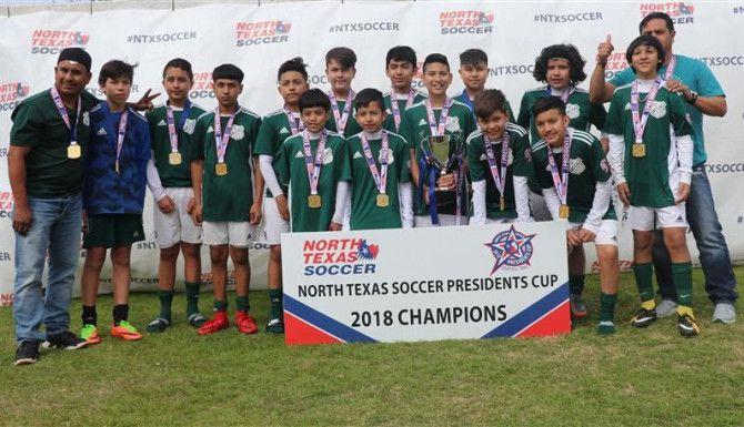 Los F.C. Warriors 05 ganaron la categoría varonil Sub-13 de la 2018 North Texas Soccer Presidents Cup.