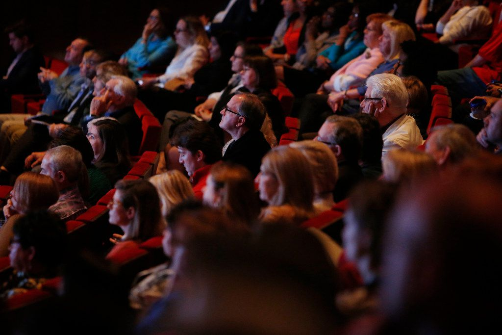 Attendees listen in on a panel discussion during the Engage event Educated City, part of The Dallas Festival of Ideas, at the George W. Bush Presidential Center in Dallas on Tuesday, Jan. 24, 2017. (Rose Baca/The Dallas Morning News)