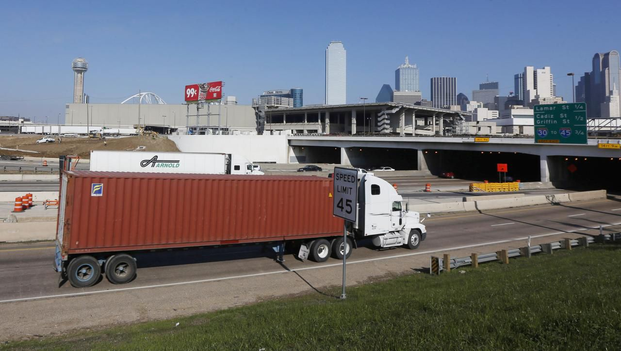 One of the two preferred sites  for a bullet train station in Dallas would extend over Interstate 30, connecting downtown to the Cedars area of South Dallas in much the same way that Klyde Warren Park links downtown's northern edge to Uptown.