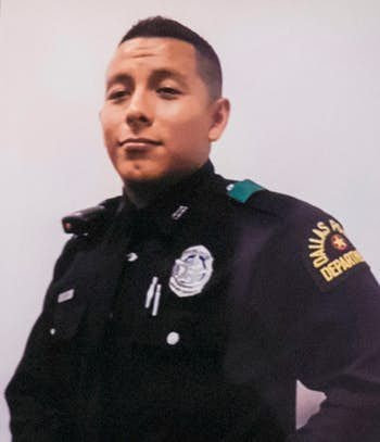 Officer Rogelio Santander was fatally shot Tuesday afternoon while making an arrest at a Home Depot in Dallas.