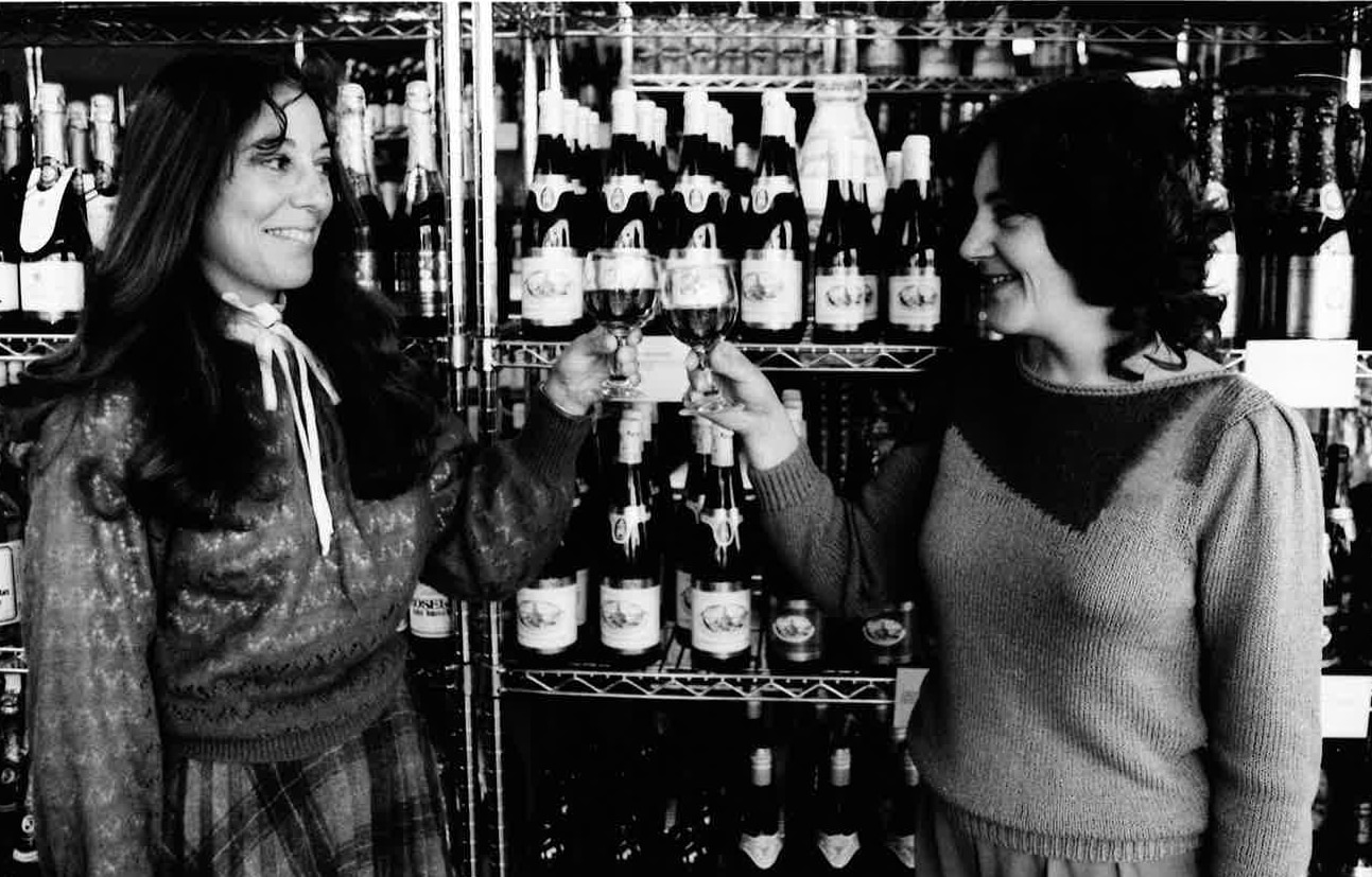 Sisters Martha Zelzer and Carol Zelzer toast their store High Sobriety, which sells only nonalcoholic beverages.