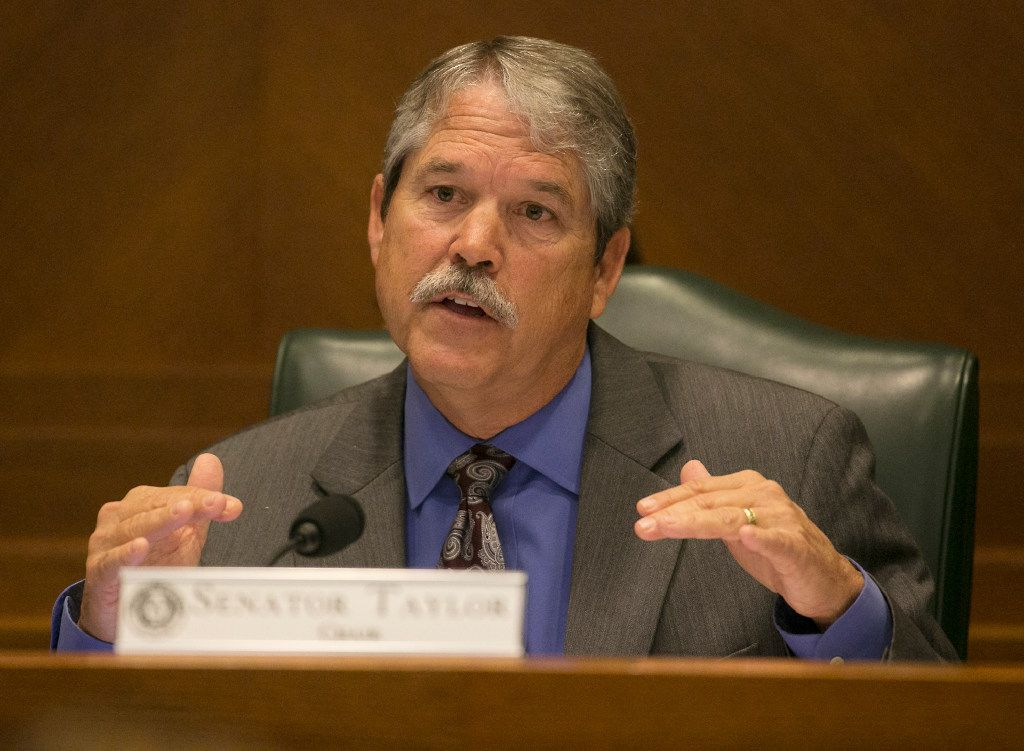 Sen. Larry Taylor wouldn't say during a recent interview whether he supported or opposed an extension of the hold-harmless period.