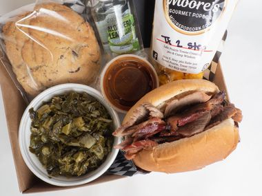 The shoebox lunches at Smokey John's feature items from local Black entrepreneurs and farmers.