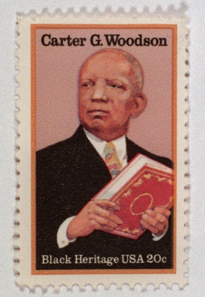The U.S. Postal Service once honored Dr. Carter G. Woodson with a stamp.