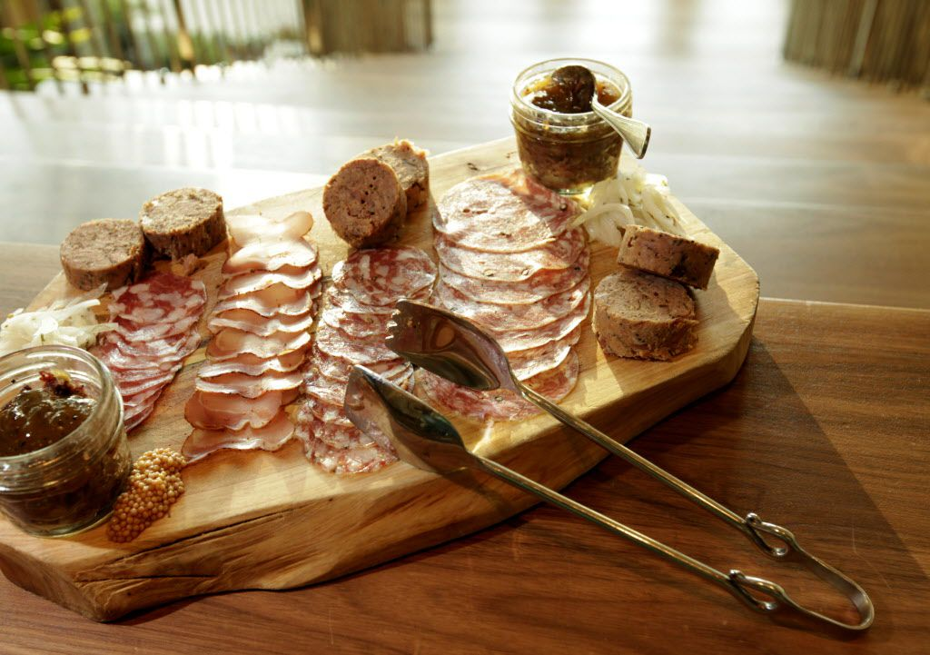 First course: Aaron's charcuterie plate