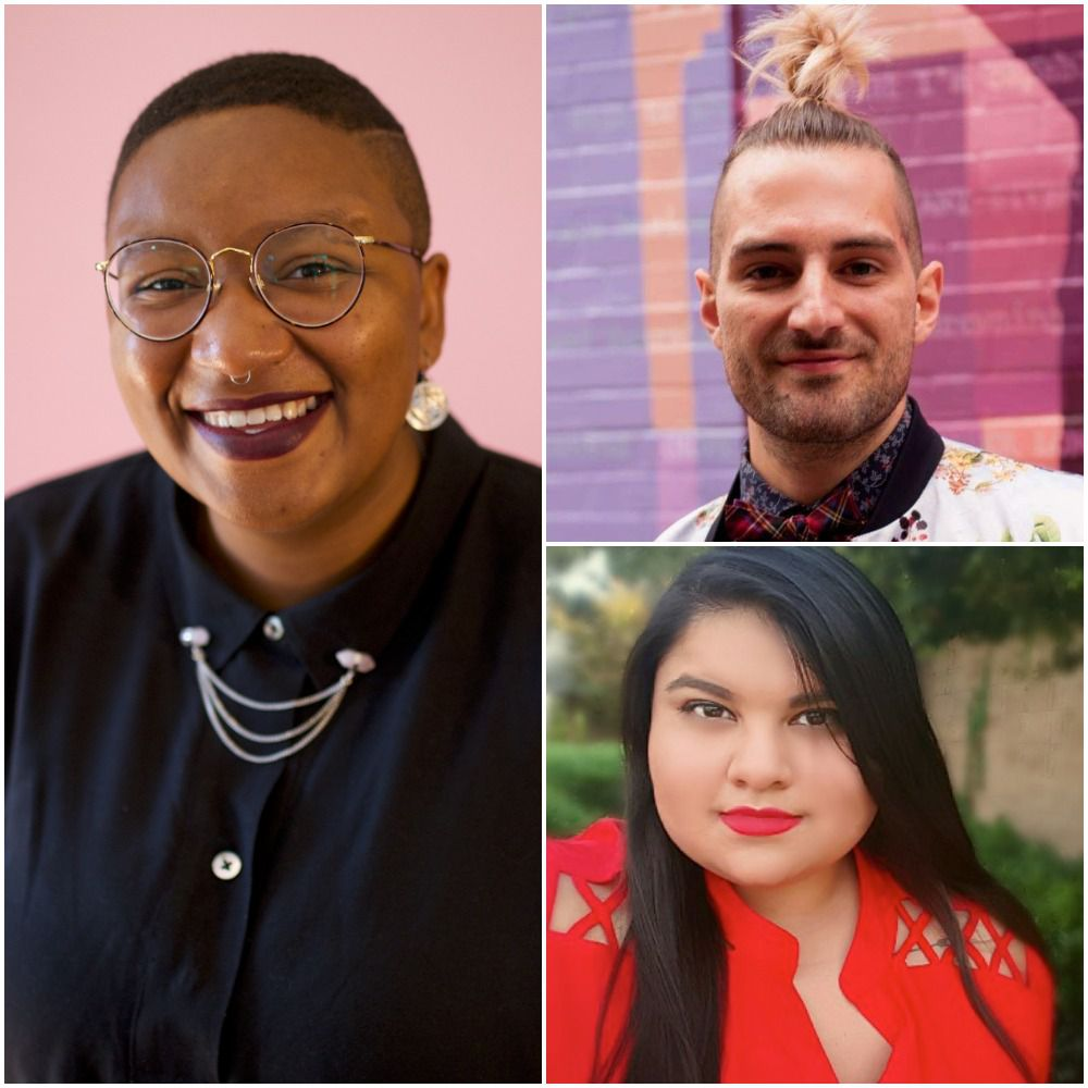 Kitchen Dog Theater's 2021 New Works Festival includes (clockwise, from left) works by Erin Malone Turner, Haygen-Brice Walker and Tara Moses.