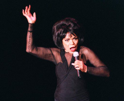 Eartha Kitt performs at a sold-out show at the Kalita Humphreys Theater in Dallas.