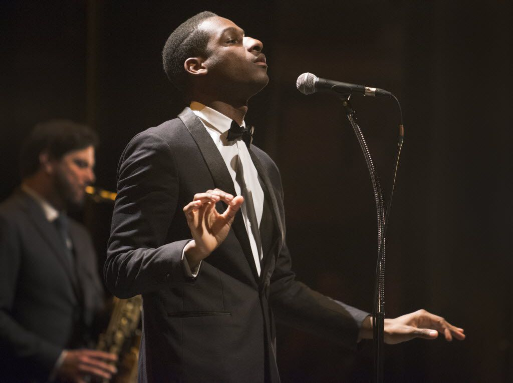 Leon Bridges performs at the Majestic Theater in Dallas, Texas on November 14, 2015