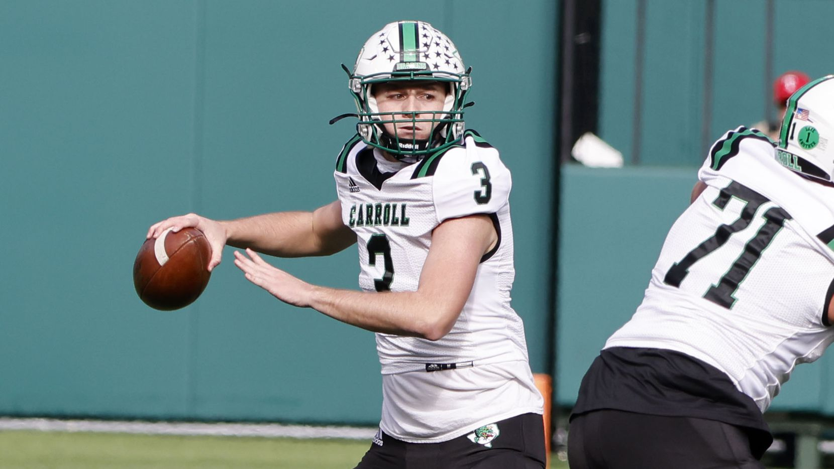 Five-star quarterback Quinn Ewers completed 67% of his passes, threw for 2,442 yards and accounted for 31 touchdowns while leading Southlake Carroll to a state runner-up finish in Class 6A Division I last season. (Michael Ainsworth/Special Contributor)