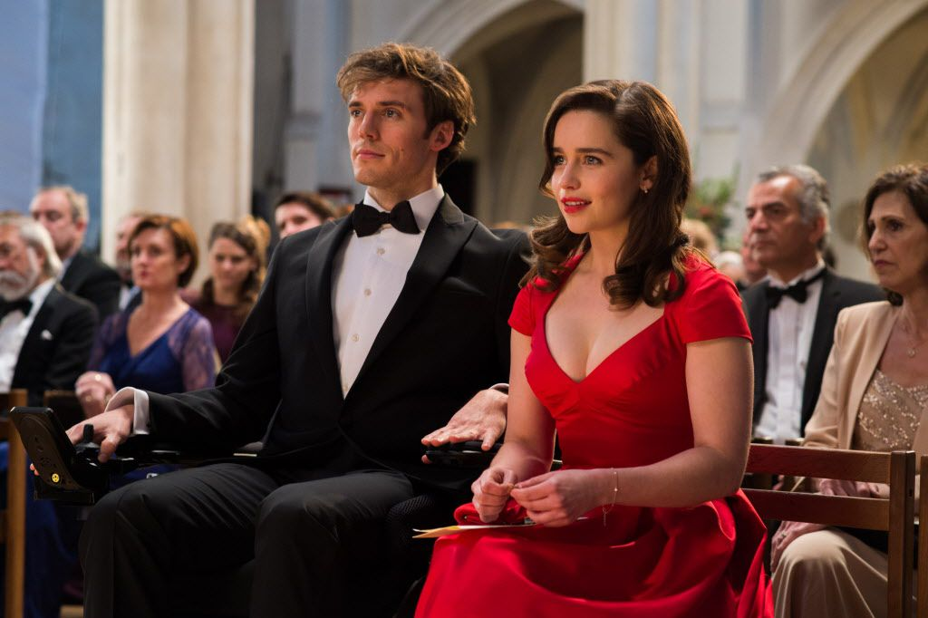 """(L-r) SAM CLAFLIN as Will Traynor and EMILIA CLARKE as Louisa """"Lou"""" Clark in New Line Cinema's and Metro-Goldwyn-Mayer Pictures' romantic drama """"ME BEFORE YOU."""""""