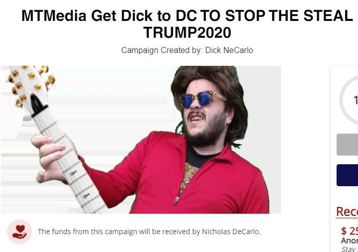Nicholas DeCarlo, an accused Capitol rioter from Burleson, raised money online to travel to Washington D.C. on Jan. 6, 2021.
