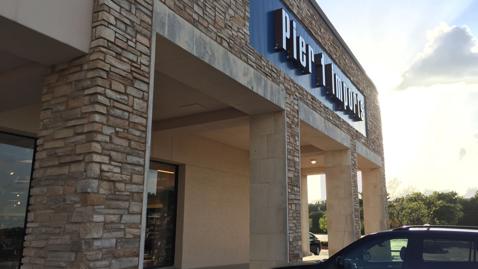 Exterior of the Pier 1 Imports store in Medallion Center in Dallas.