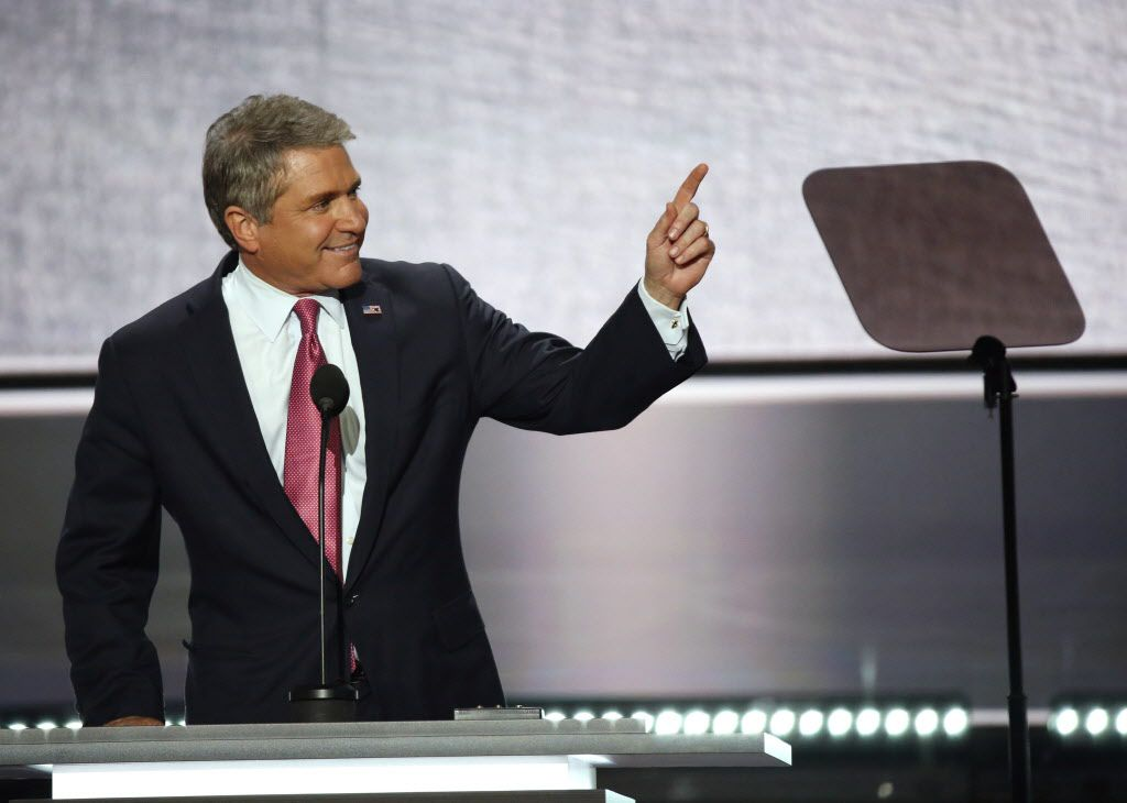 Rep. Michael McCaul pointed out his home state of Texas and its delegates during the first day of the Republican National Convention in Cleveland on July 18.
