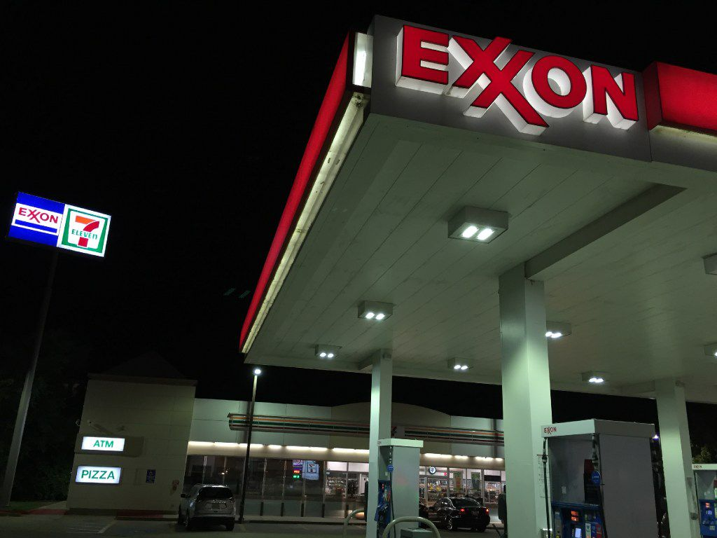 The Exxon/711 service station at the Hwy 67 and Danieldale Road exit in Duncanville, Texas.