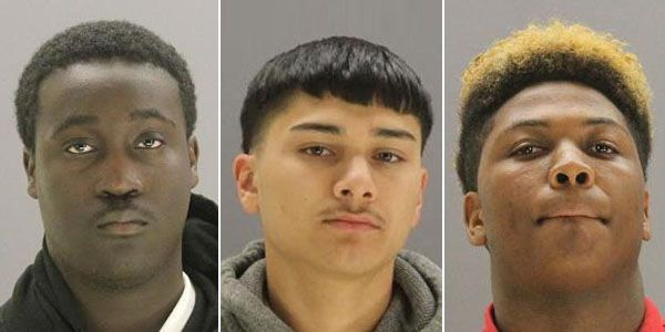 Sylvanus Lanier, Marco Garcia, and Elijah Willis are shown in booking photos made available by Dallas County Jail.