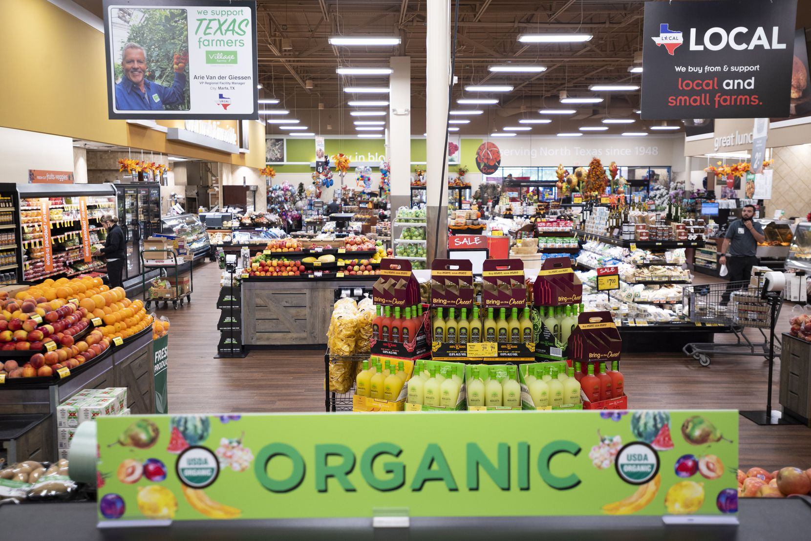 The produce section inside the Tom Thumb supermarket at Custer Parkway in Richardson.