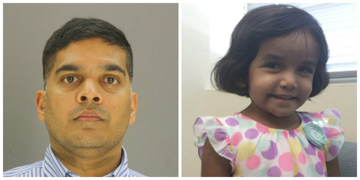 Wesley Mathews (left) was sentenced to life in prison in connection to the 2017 death of Sherin Mathews